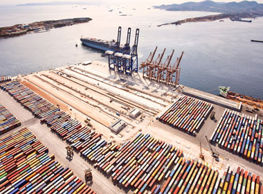 Container shipping terminal